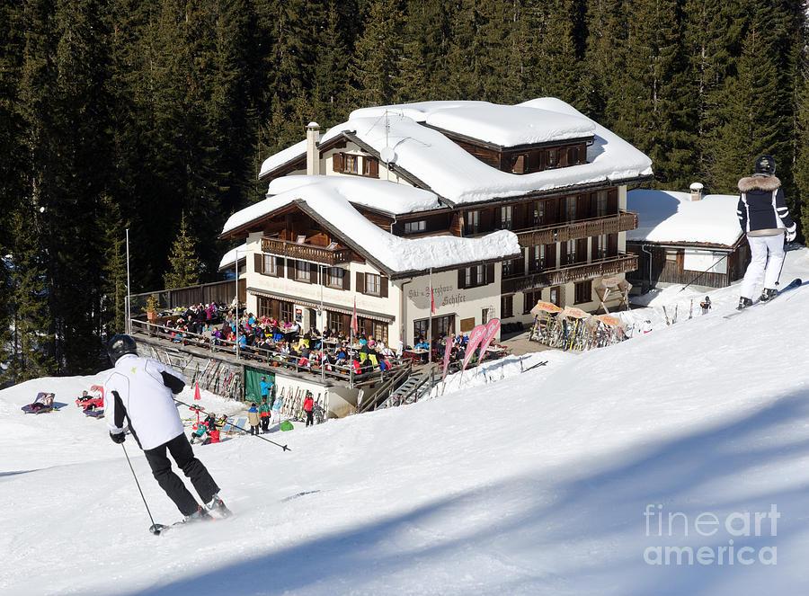 Skihaus Schifer Skier Davos Parsenn Klosters Photograph
