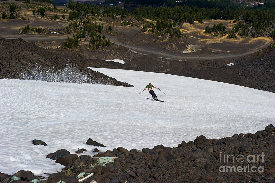 Mt. Bachelor Photograph - Skiing Bachelor In August by Jackie Follett