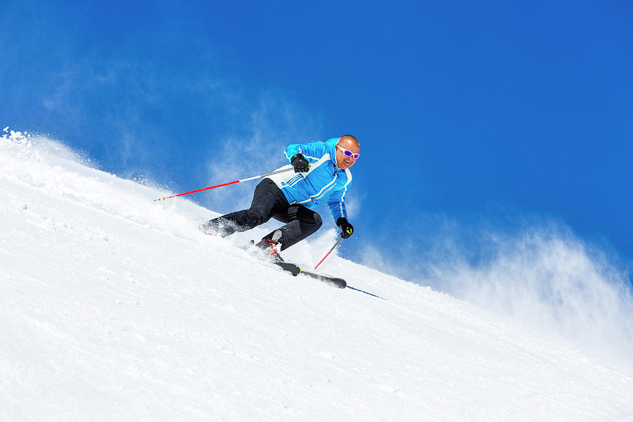 Skiing Carving Photograph by Ultramarinfoto