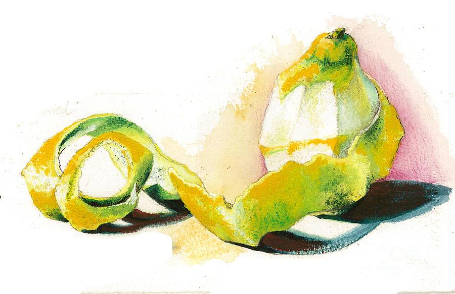 Yellow Painting - Skin.. by Alessandra Andrisani