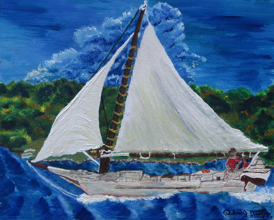 Skipjack Nathan Of Dorchester Painting by Debbie Nester