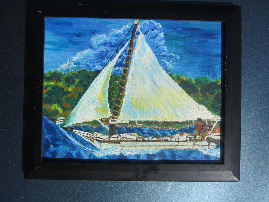 Sailboat Painting - Skipjack Nathan Of Dorchester Famous Sailboat At Sea by Debbie Nester