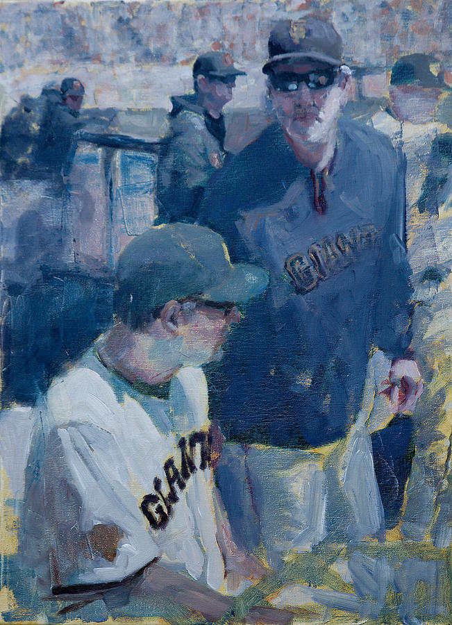 Bruce Bochy Painting - Skipper at the Helm by Darren Kerr