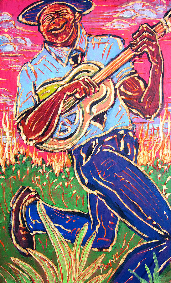 Blues Painting - Skippin Blues by Robert Ponzio