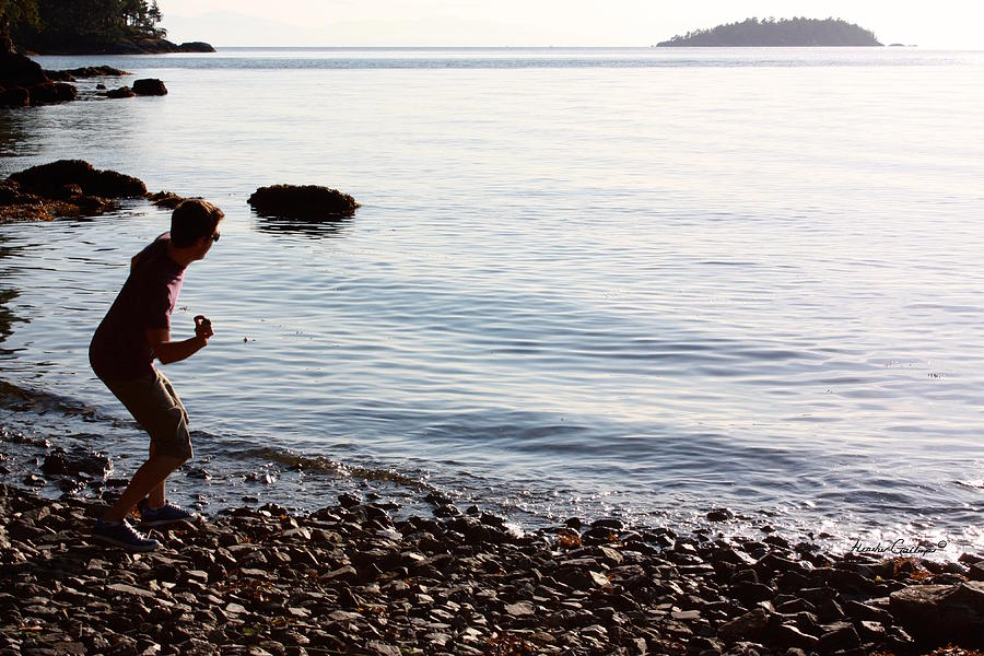 West Coast Photograph - Skipping Stones by Heather Gallup