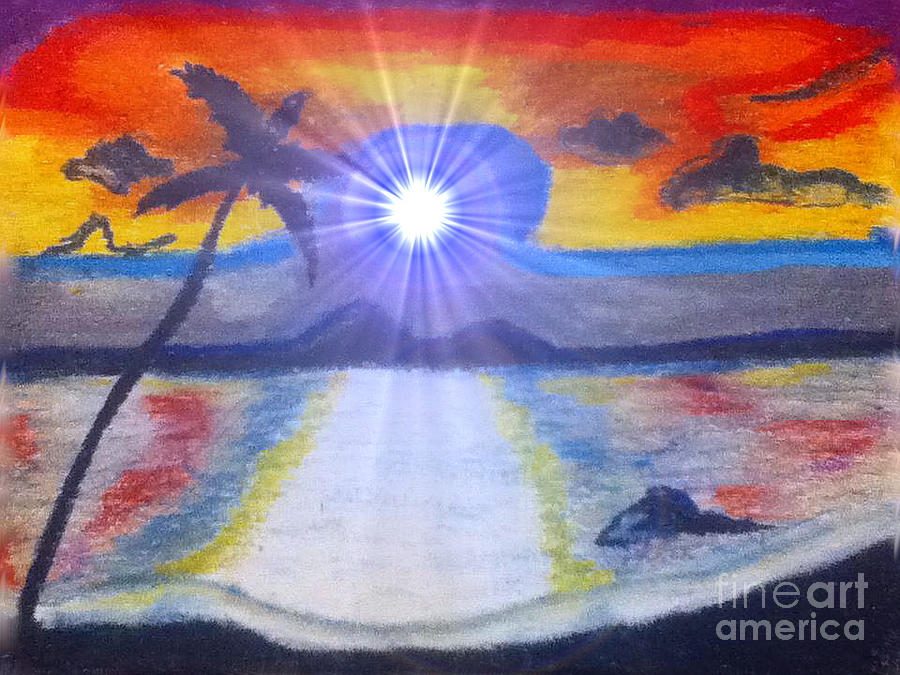 Sun Rise Digital Art - Skittel Sky by Lewanda Laboy