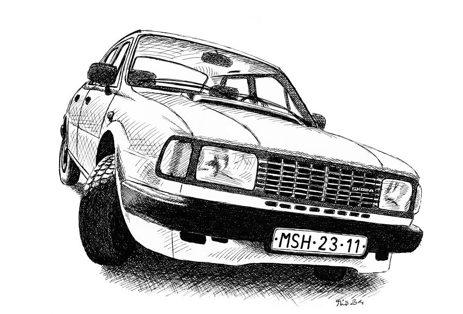 Skoda Drawing - Skoda 120l by Milan Surkala