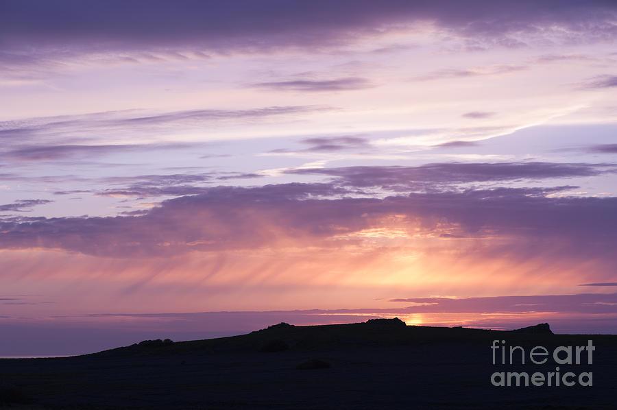 Blue Photograph - Skomer Sunset by Anne Gilbert