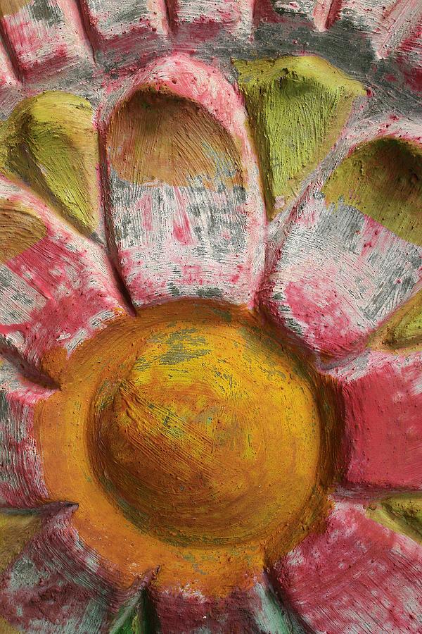 Flower Photograph - Skc 0008 Scraped Paint by Sunil Kapadia