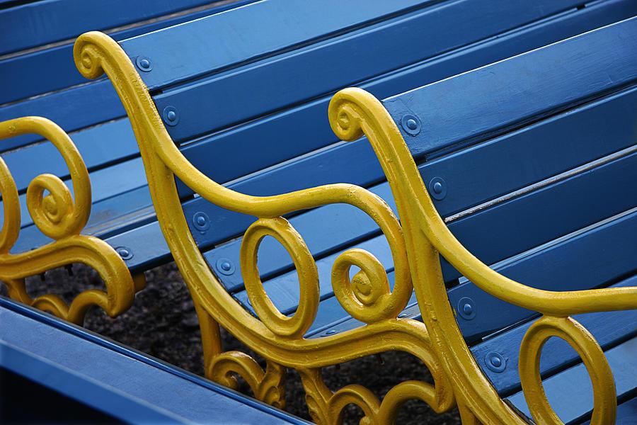 Fresh Photograph - Skc 0246 Garden Benches by Sunil Kapadia