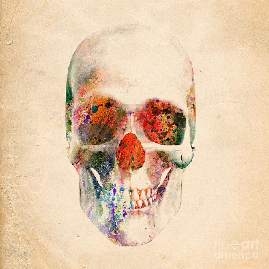 Via De Los Muertos Digital Art - Skull 12 by Mark Ashkenazi