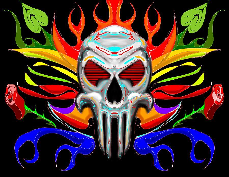 Skull Painting - Skull Abstract by Arpit Handa