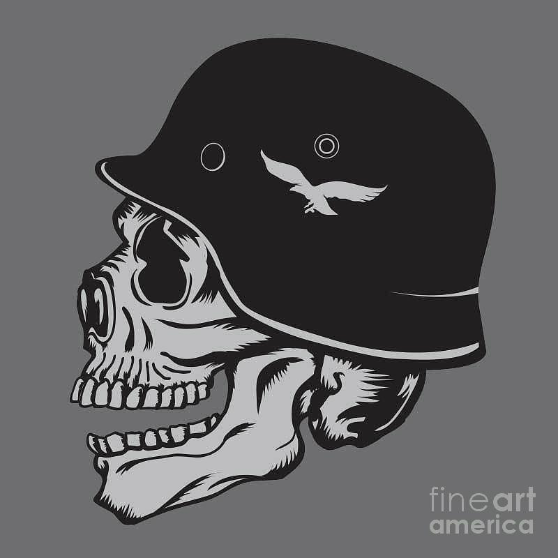 skull army helmet illustration digital art by syquallo skull army helmet illustration digital art by syquallo