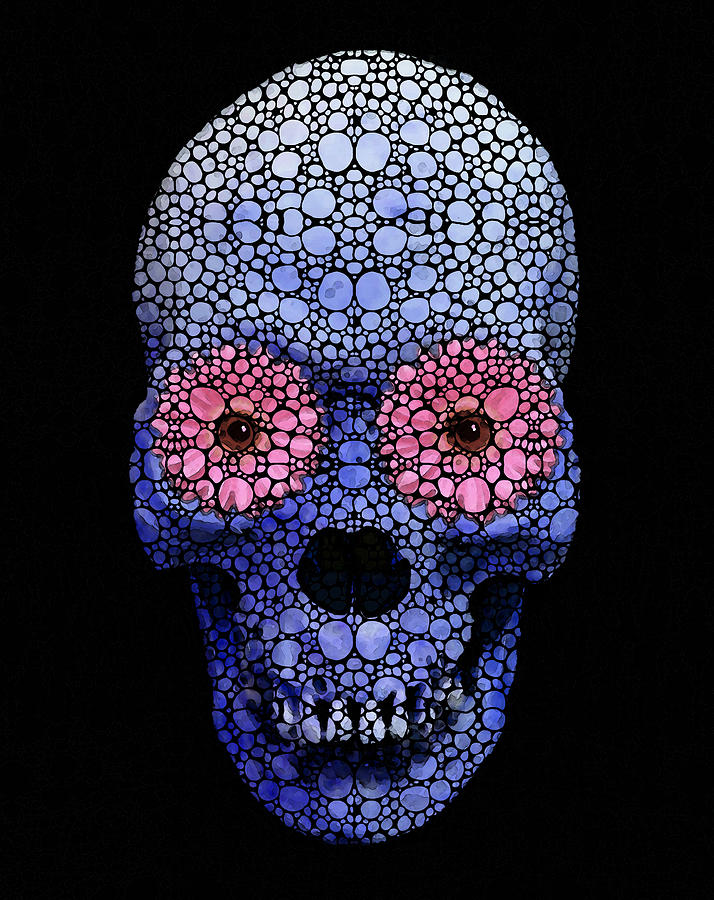 Day Of The Dead Abstract Art