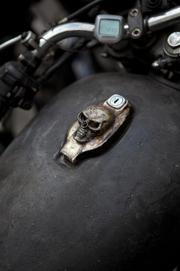 Skull Design On Motorcycle Ignition Photograph by Andreas Schlegel