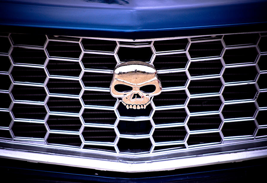 Mazda Rx3 Photograph - Skull Grill by Phil motography Clark