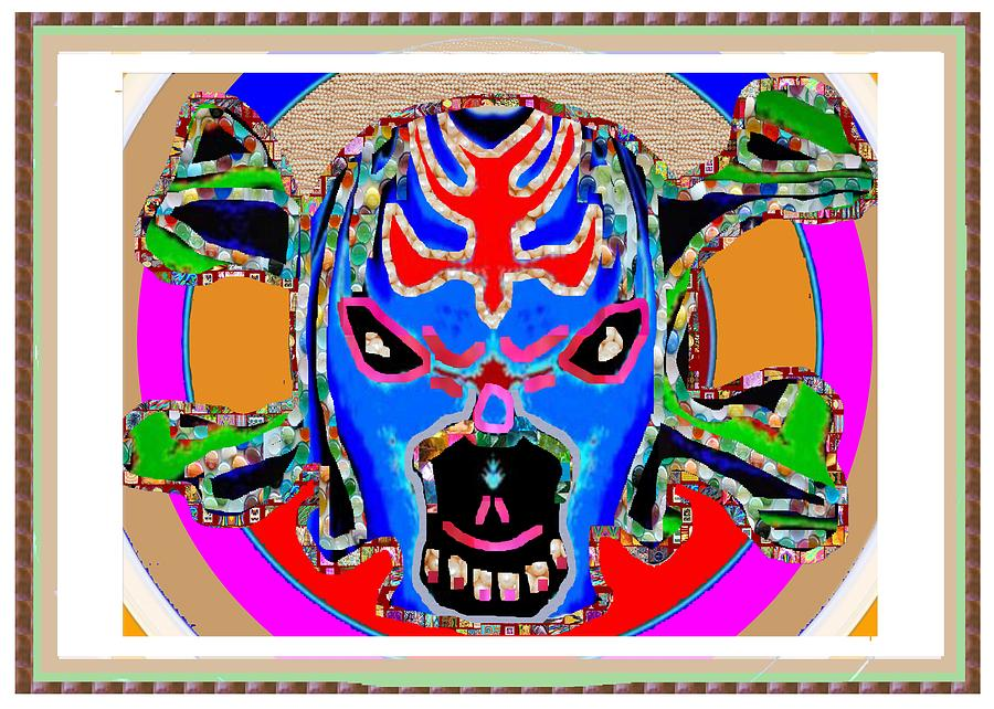 Skull Painting - Skull Halloween Ghost Mascot Wizard Magic Comedy Comic Humor  Navinjoshi Rights Managed Images Clawn by Navin Joshi