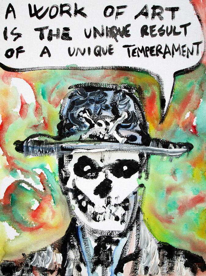 Skull Painting - Skull Quoting Oscar Wilde.1 by Fabrizio Cassetta