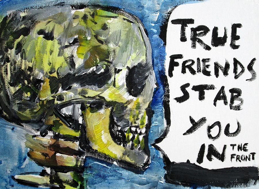 Skull Painting - Skull Quoting Oscar Wilde.2 by Fabrizio Cassetta