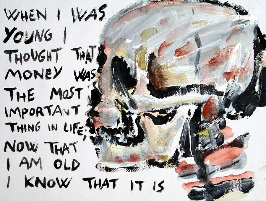 Skull Painting - Skull Quoting Oscar Wilde.3 by Fabrizio Cassetta