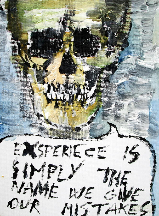 Skull Painting - Skull Quoting Oscar Wilde.4 by Fabrizio Cassetta