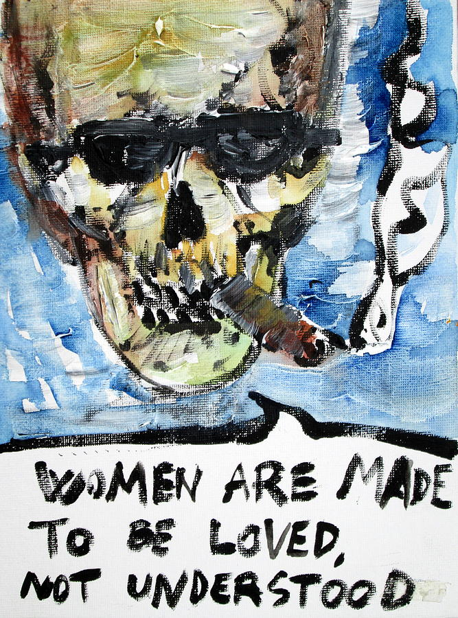 Skull Painting - Skull Quoting Oscar Wilde.6 by Fabrizio Cassetta