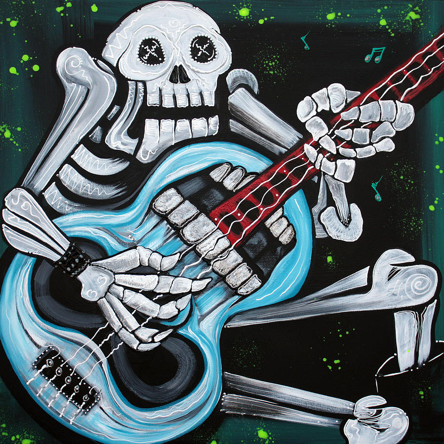 Music Painting - Skull Rock by Laura Barbosa