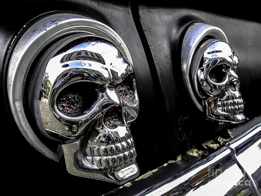 Skull Tail Lights Photograph By Scott Moore