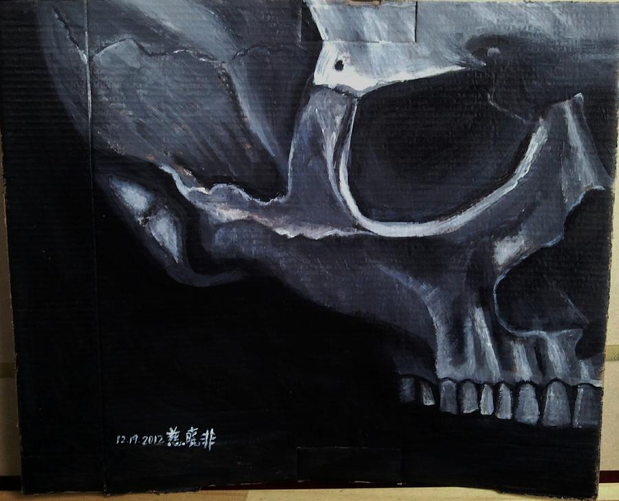Skull Painting - Skull by Xiaofei Ci