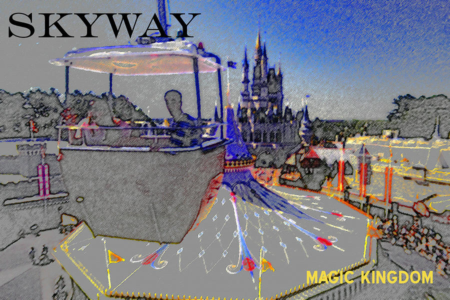 Artwork Painting - Skway Magic Kingdom by David Lee Thompson