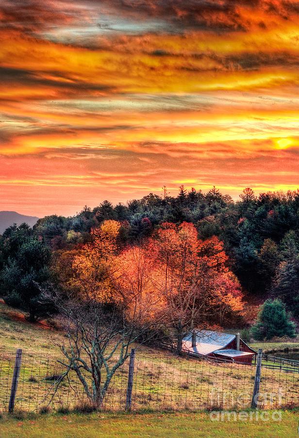 North Carolina Photograph - Sky Ablaze - Blue Ridge Sunrise I by Dan Carmichael