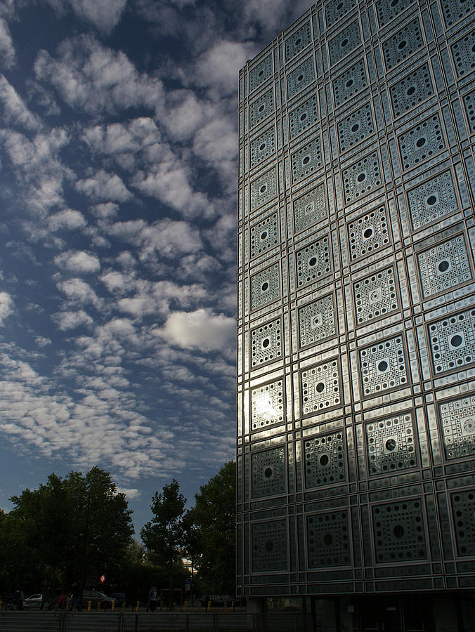 Arab World Institute Photograph - Sky And Building by Gary Eason