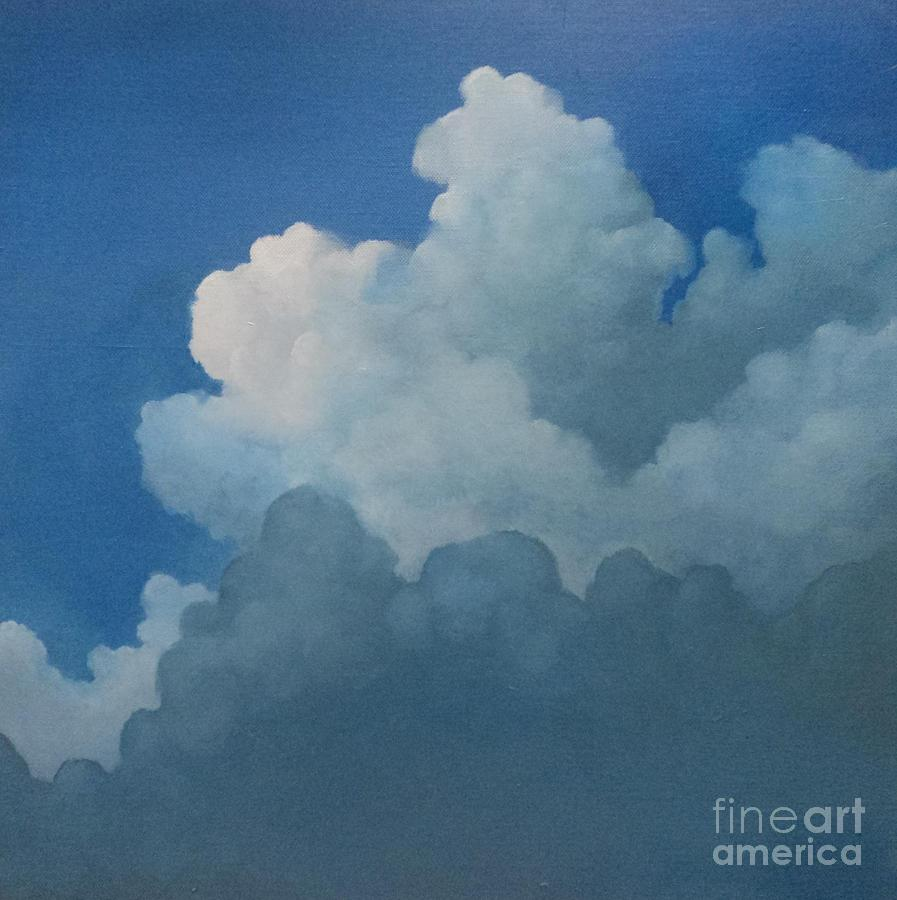 Clouds Painting - Sky Art by Cynthia Vaught