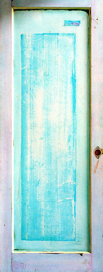 Door Painting Sculpture - Sky Blue Entrance Entre Vous by Asha Carolyn Young