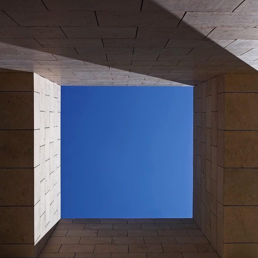 The Getty Center Photograph - Sky Box At The Getty 2 by Rona Black