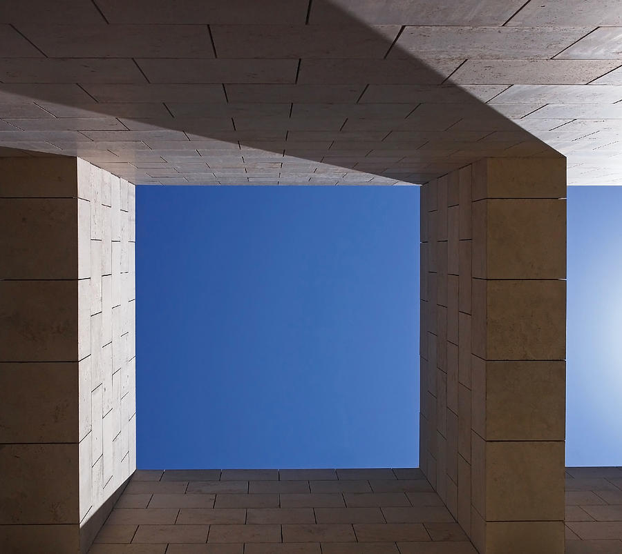 Abstract Photograph - Sky Box At The Getty  by Rona Black