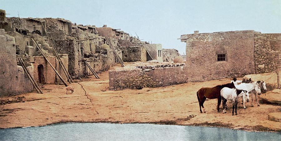1890's Photograph - Sky City Acoma Pueblo by William Henry Jackson