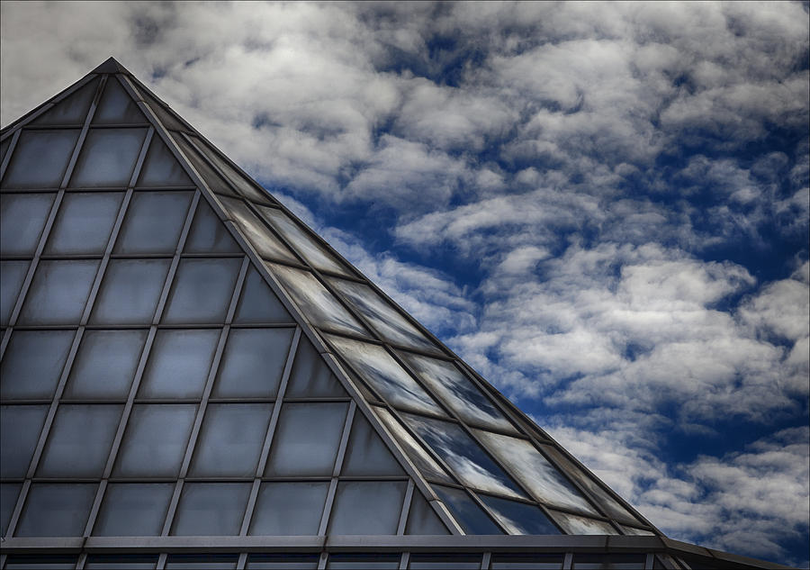 Clouds Photograph - Sky Clouds And Glass by Robert Ullmann