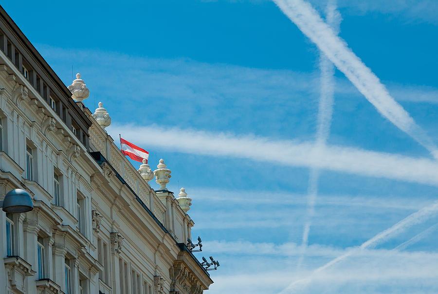 Vienna Photograph - Sky Crossroads by Viacheslav Savitskiy