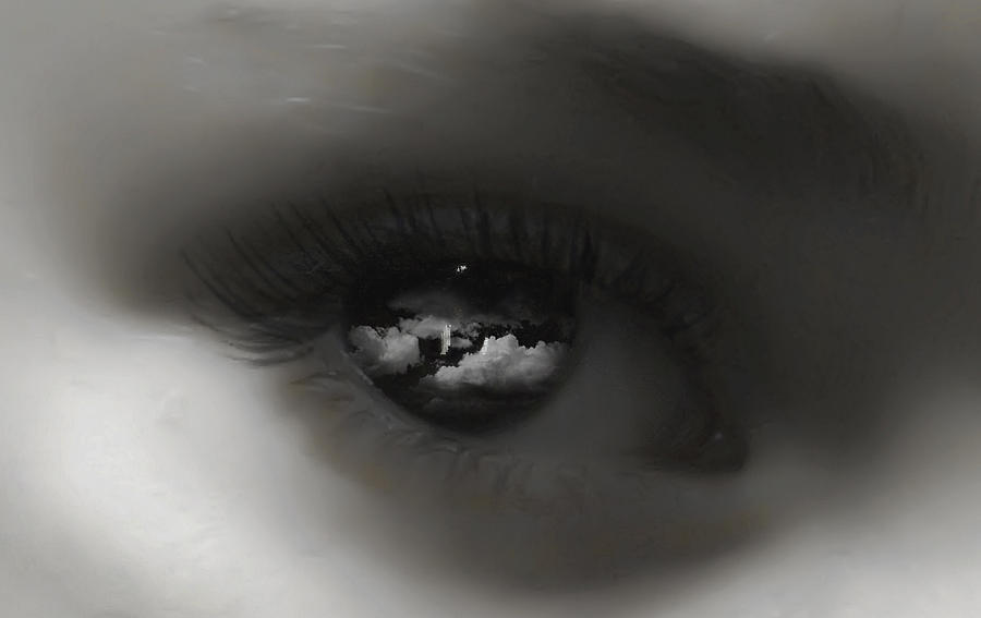 Black And White Photograph - Sky Eye by Kristie  Bonnewell
