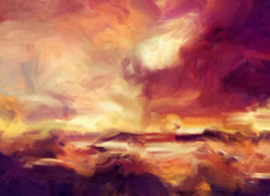 Sky Fire Abstract Realism Painting