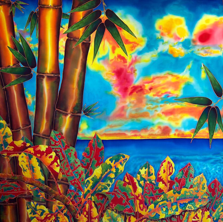 Landscape Painting - Sky Fire by Daniel Jean-Baptiste