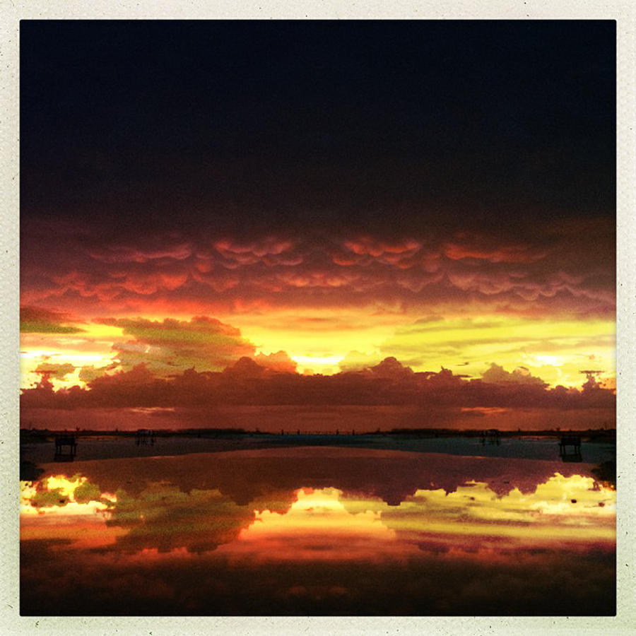 Siesta Key Photograph - Sky Fire Siesta Key by Alison Maddex