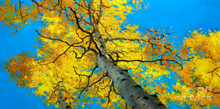 Aspen Canopy Painting - Sky High 3 by Gary Kim  sc 1 st  Fine Art America & Sky High 3 Painting by Gary Kim