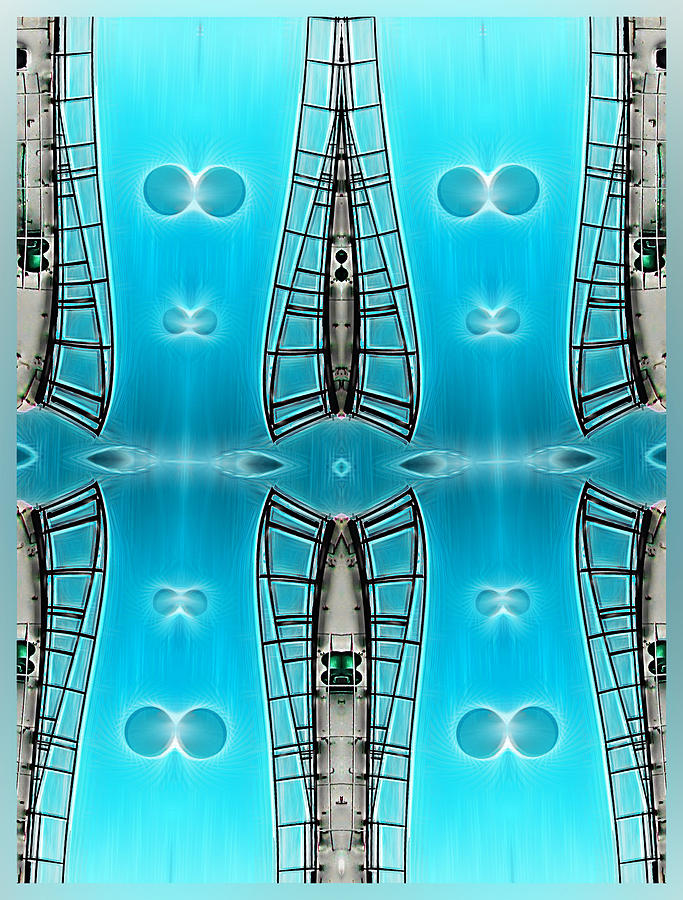 Abstract Digital Art - Sky Ladders by Wendy J St Christopher