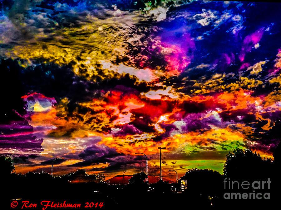 Sky Log Jam Photograph by Ron Fleishman