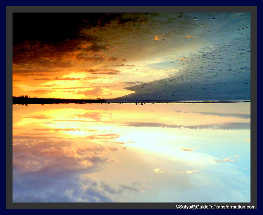Water Photograph - Sky Meets Water by Satya Winkelman