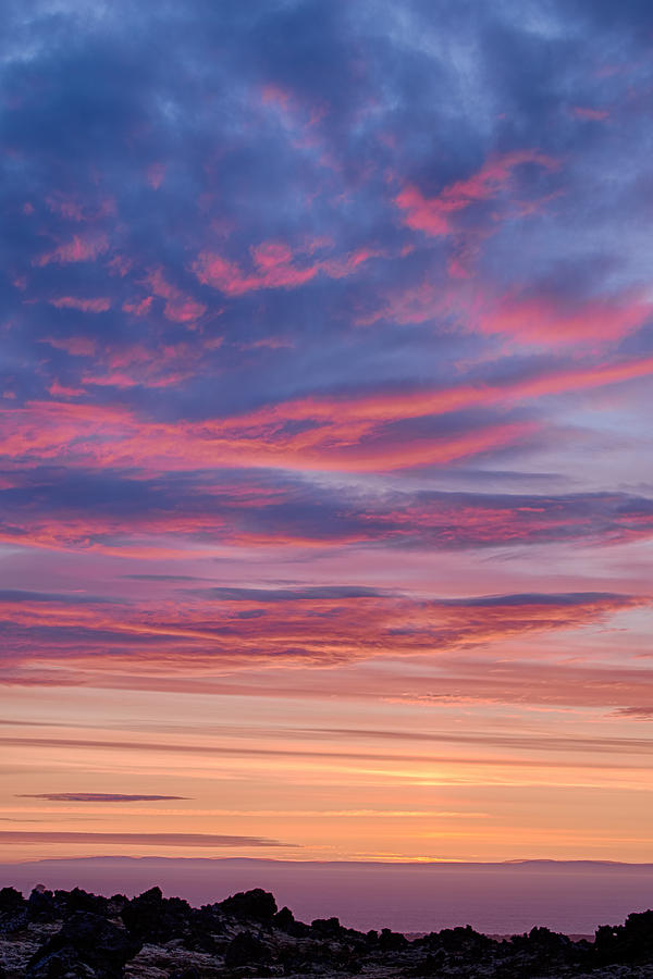 Sky on Fire in Iceland by Victoria Porter