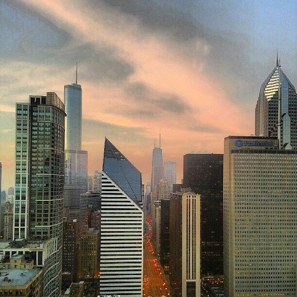Chicago Photograph - Sky On Fire by Jill Tuinier