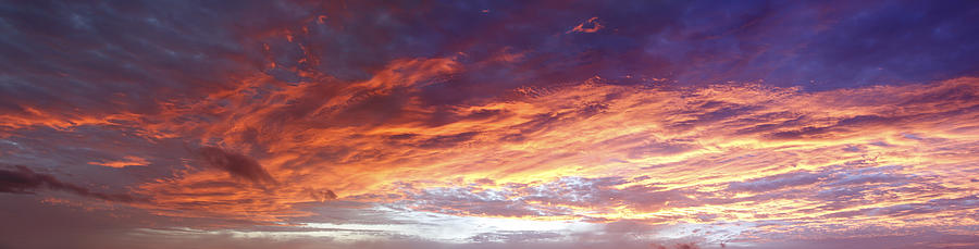 Dawn Photograph - Sky On Fire by Les Cunliffe